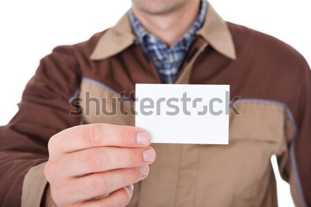 Man Holding Blank Visiting Card Stock photo © AndreyPopov