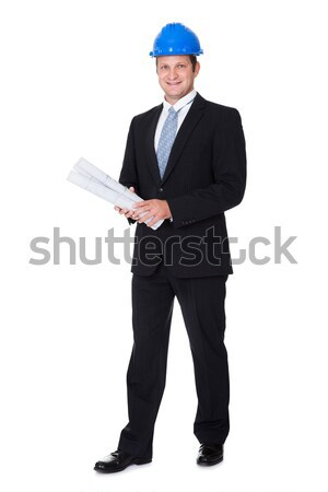 Stock photo: Happy Male Architect Offering Handshake