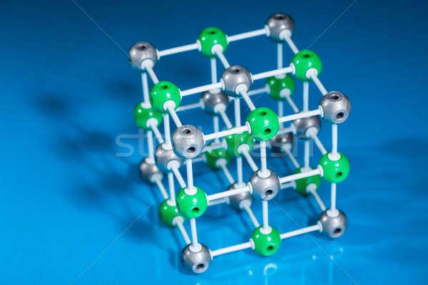 モデル 分子の 構造 青 技術 ストックフォト © AndreyPopov