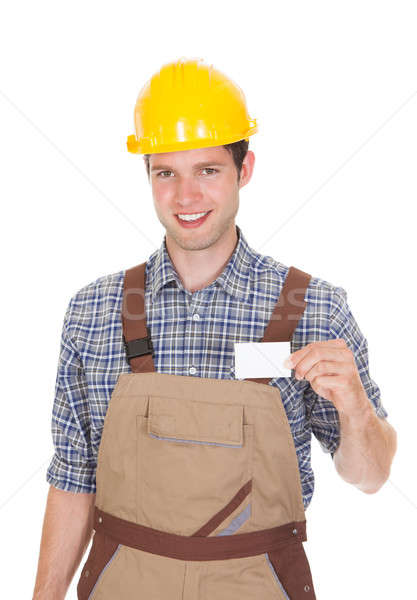 Architect Holding Visiting Card Stock photo © AndreyPopov