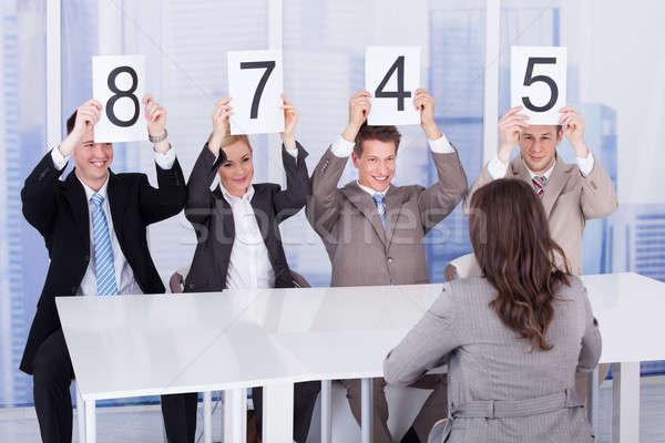 деловые люди счет карт женщины кандидат Сток-фото © AndreyPopov