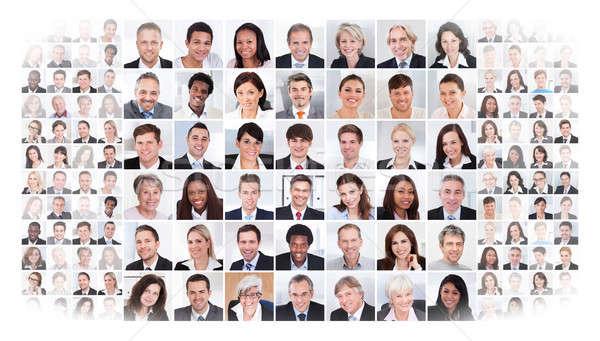 Collage Geschäftsleute weiß Frau Frauen Stock foto © AndreyPopov