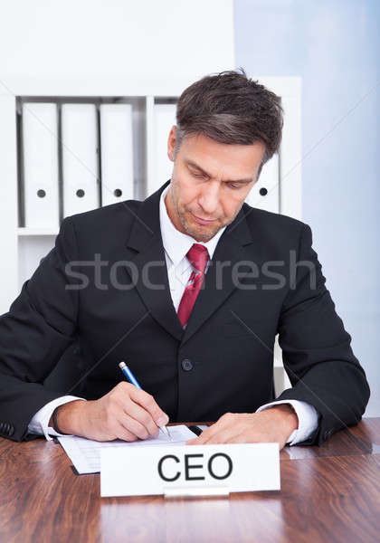 Male Ceo Working At Office Stock photo © AndreyPopov