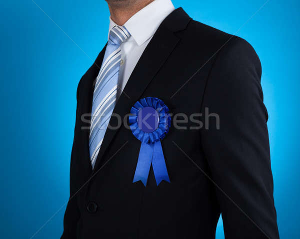 Midsection Of Businessman With Ribbon Stock photo © AndreyPopov