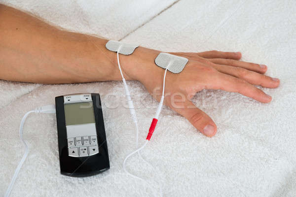 Person Hand With Electrodes Stock photo © AndreyPopov