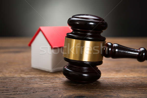 House Model With Gavel Stock photo © AndreyPopov