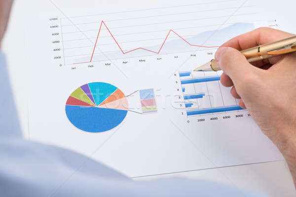Businessperson Analyzing Statistic Chart Stock photo © AndreyPopov