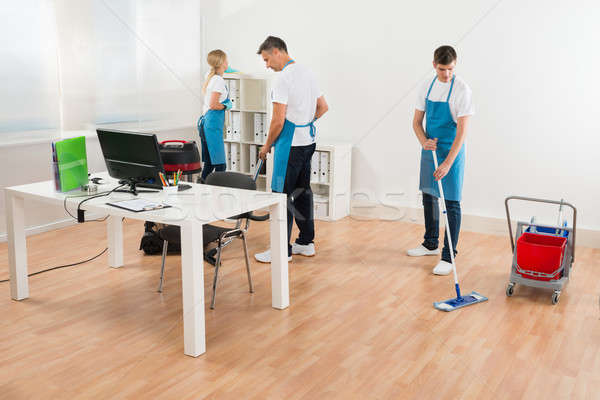 Janitors Together Cleaning Office Stock photo © AndreyPopov