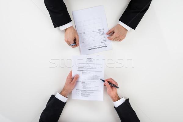 ビジネスマン インタビュー 候補者 デスク 画像 ストックフォト © AndreyPopov