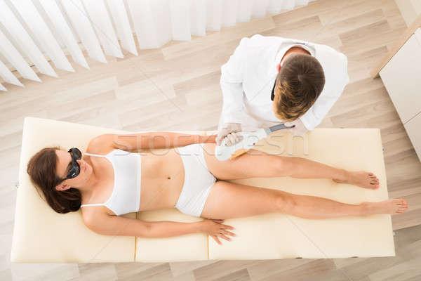 Laser trattamento view maschio Foto d'archivio © AndreyPopov