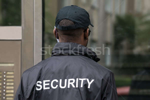 Rear View Of A Security Guard Stock photo © AndreyPopov