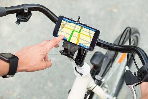 Dedo senalando GPS navegación Foto stock © AndreyPopov
