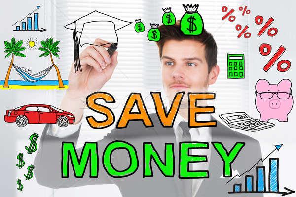 Save Money Concept Drawn On Blackboard Stock photo © AndreyPopov