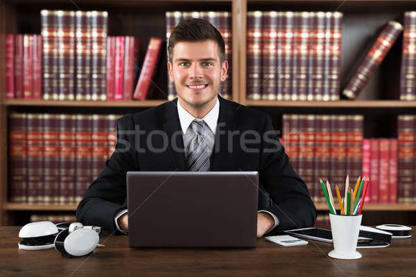 Portrait Of A Successful Male Accountant  Stock photo © AndreyPopov