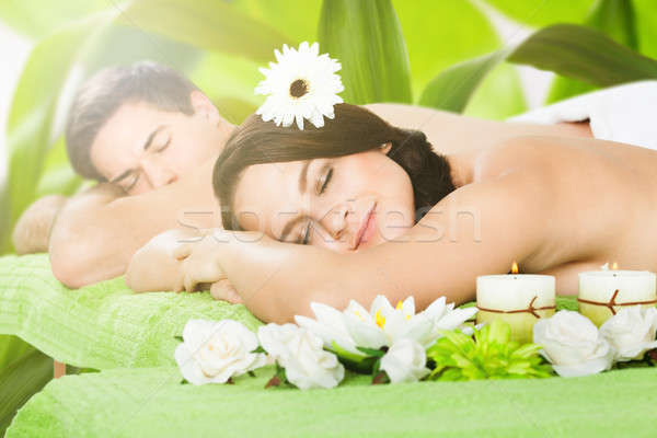 Couple Relaxing In A Spa Stock photo © AndreyPopov