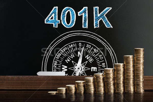 401k Pension Plan On Blackboard Stock photo © AndreyPopov