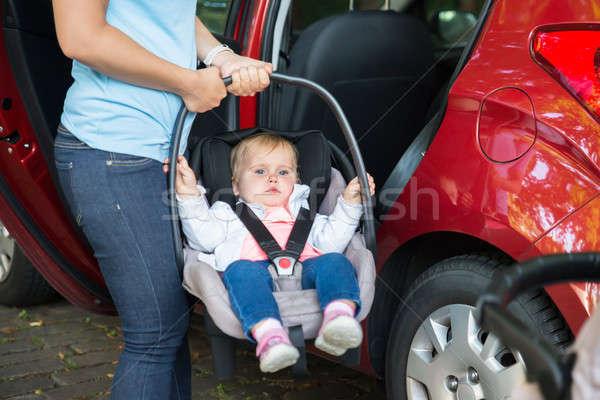 матери ребенка автомобилей сиденье за пределами Сток-фото © AndreyPopov