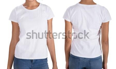 Stock photo: Young Woman Wearing T-Shirt