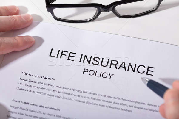 Close-up Of Life Insurance Policy Form Stock photo © AndreyPopov