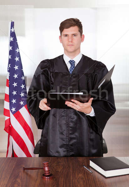 Stock photo: Male Judge In Courtroom