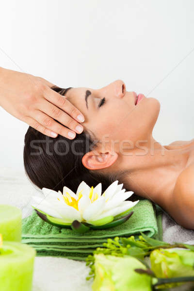 Woman In Spa Saloon Stock photo © AndreyPopov