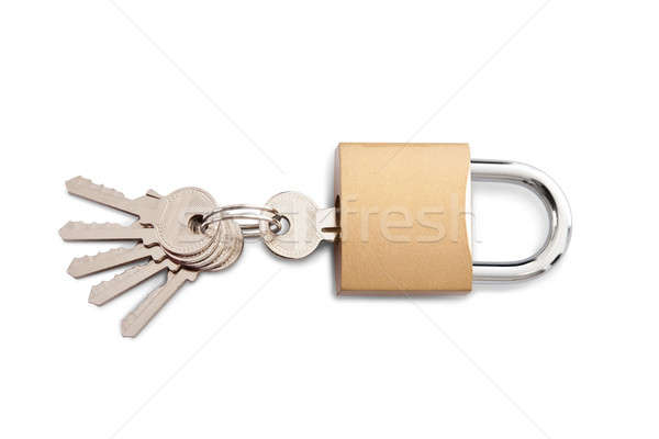 Lock and set of keys Stock photo © AndreyPopov