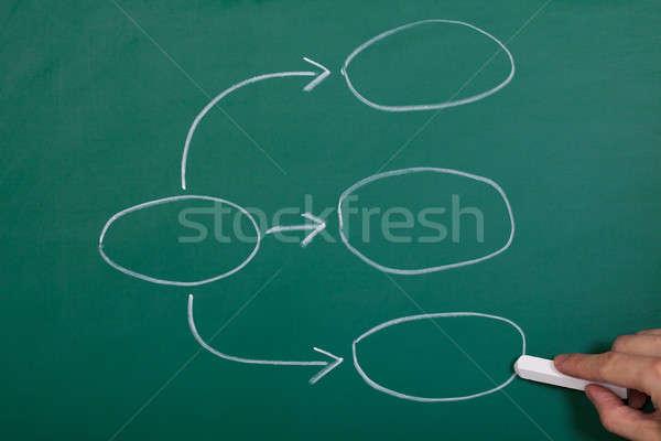 Process Flowchart Diagram Stock photo © AndreyPopov