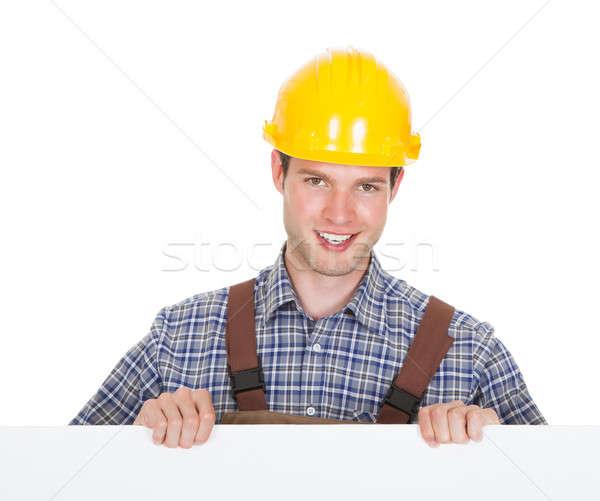 Mannelijke werknemer veiligheidshelm Stockfoto © AndreyPopov