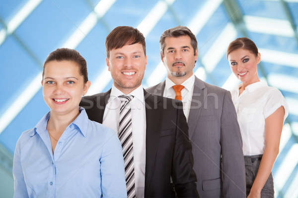 Businesspeople Standing In A Row Stock photo © AndreyPopov