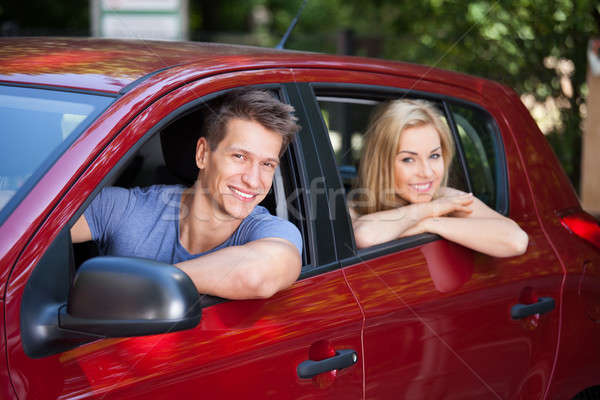 Couple Sitting In New Car Stock photo © AndreyPopov