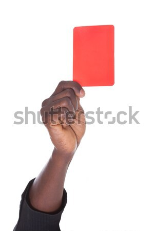 Person Showing Red Card Stock photo © AndreyPopov