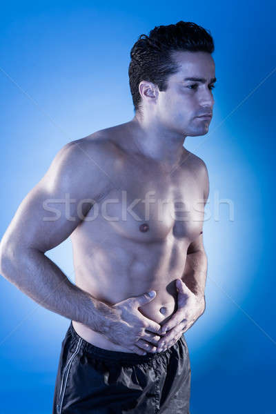 Adam portre genç gömleksiz tıbbi sağlık Stok fotoğraf © AndreyPopov