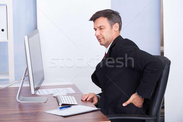 Сток-фото: бизнесмен · страдание · зрелый · рабочих · служба
