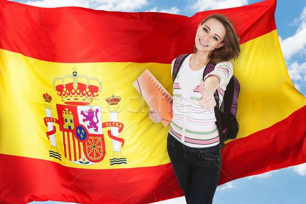Spaans student duim omhoog jonge Stockfoto © AndreyPopov