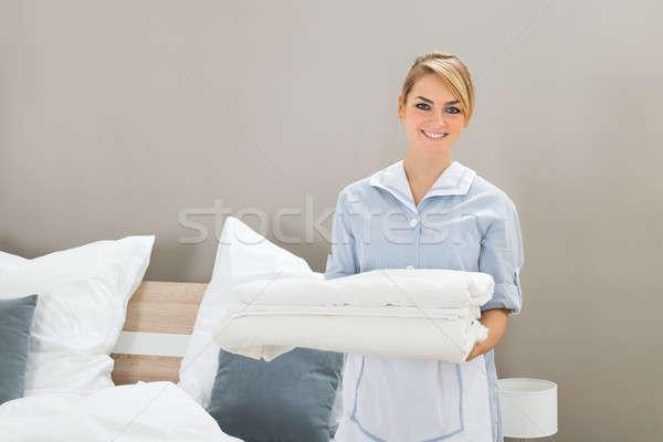 Huishoudster vel jonge vrouwelijke Stockfoto © AndreyPopov