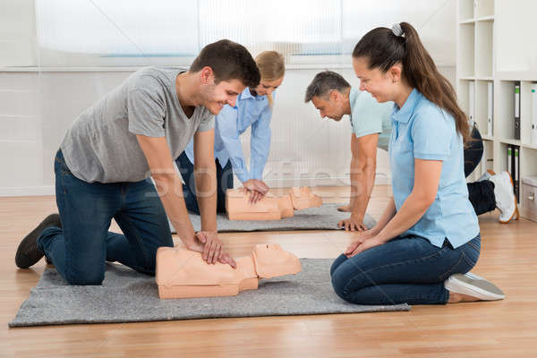 Group Of Students Learning Cpr Stock photo © AndreyPopov