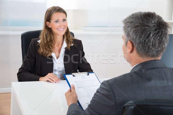 Gerente femenino solicitante maduro oficina mujer Foto stock © AndreyPopov