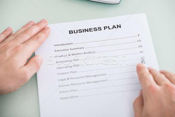 Business Plan Form Stock photo © AndreyPopov