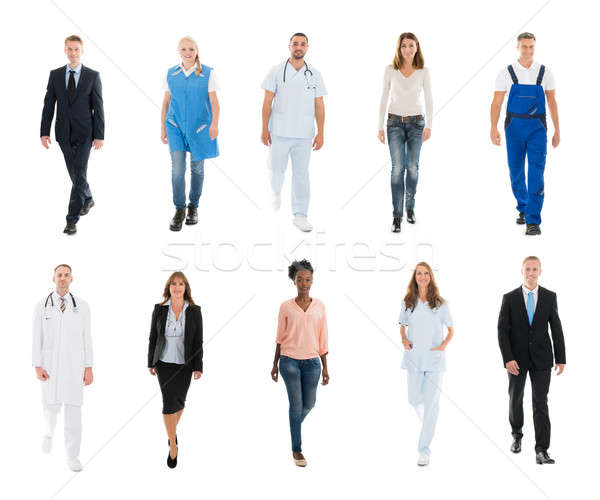 Collage Of Happy People With Different Occupations Stock photo © AndreyPopov