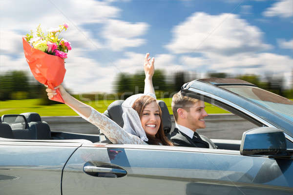Just Married Couple In New Car Stock photo © AndreyPopov
