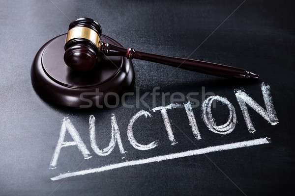 Auction Concept On Blackboard Stock photo © AndreyPopov