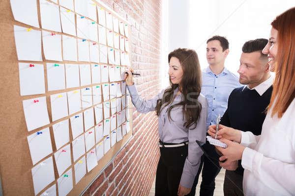 Manos papel notas primer plano gente de negocios Foto stock © AndreyPopov