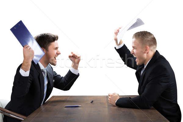 Stockfoto: Twee · zakenlieden · ander · jonge · witte