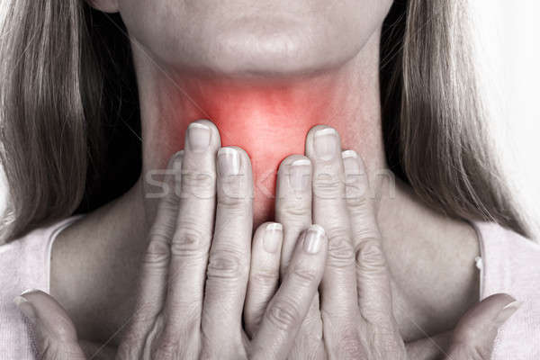 Woman With Throat Pain Stock photo © AndreyPopov