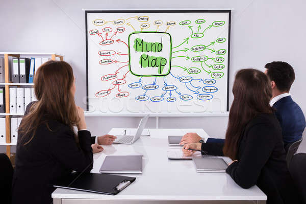 Businesspeople Looking At Mind Map Chart Stock photo © AndreyPopov