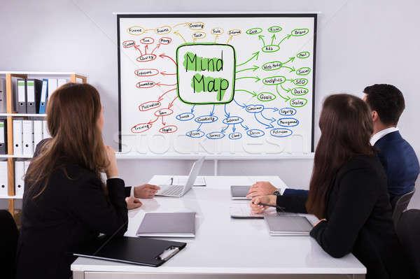Mirando mente mapa tabla grupo Foto stock © AndreyPopov