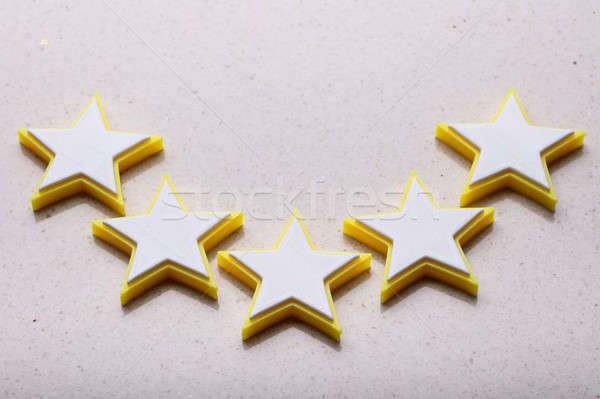 Elevated View Of Five Star Rating Icon Stock photo © AndreyPopov