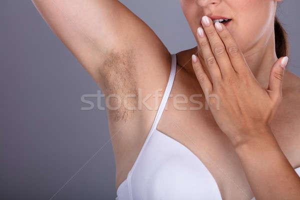 женщину волосатый подмышка тело Сток-фото © AndreyPopov