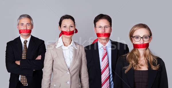üzletemberek bürokrácia körül áll csetepaté beszéd Stock fotó © AndreyPopov