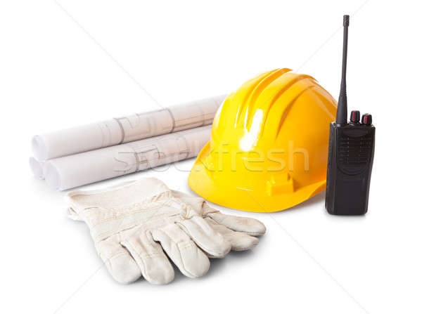 Set of constructions worker objects Stock photo © AndreyPopov
